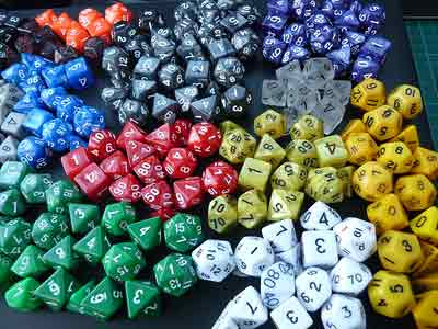 What is the difference between conventional and unconventional dice