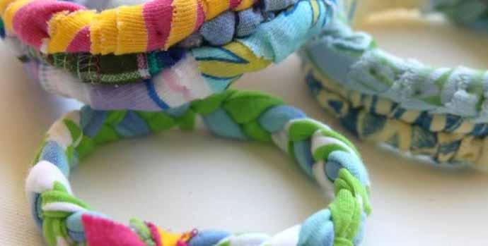 Craft T-shirt Bangle Bracelets Using Three Techniques